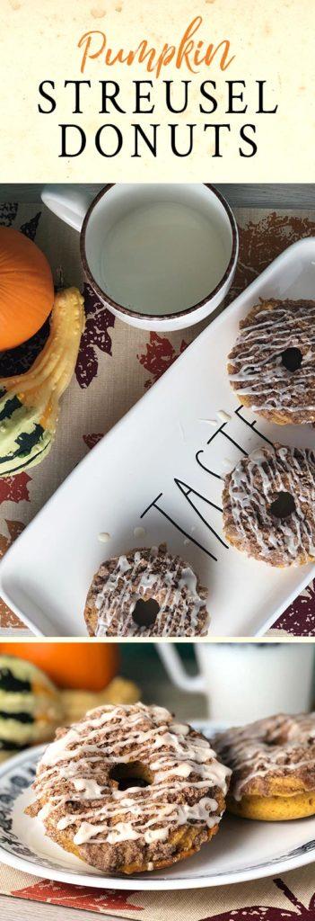 Pumpkin streusel donuts recipe.