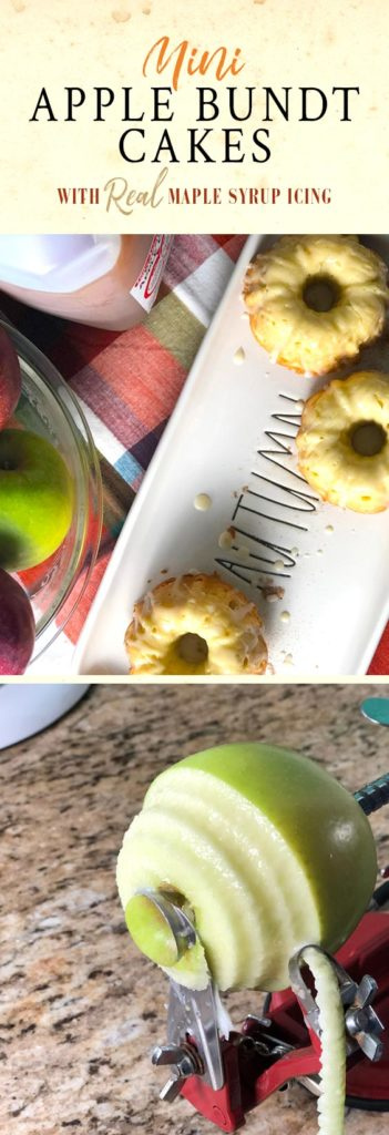 A mini apple bundt cakes recipe.