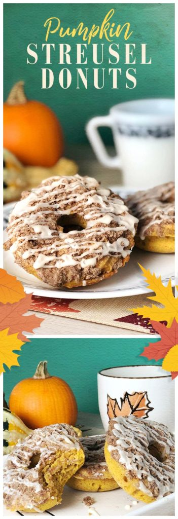 A recipe for pumpkin streusel donuts.