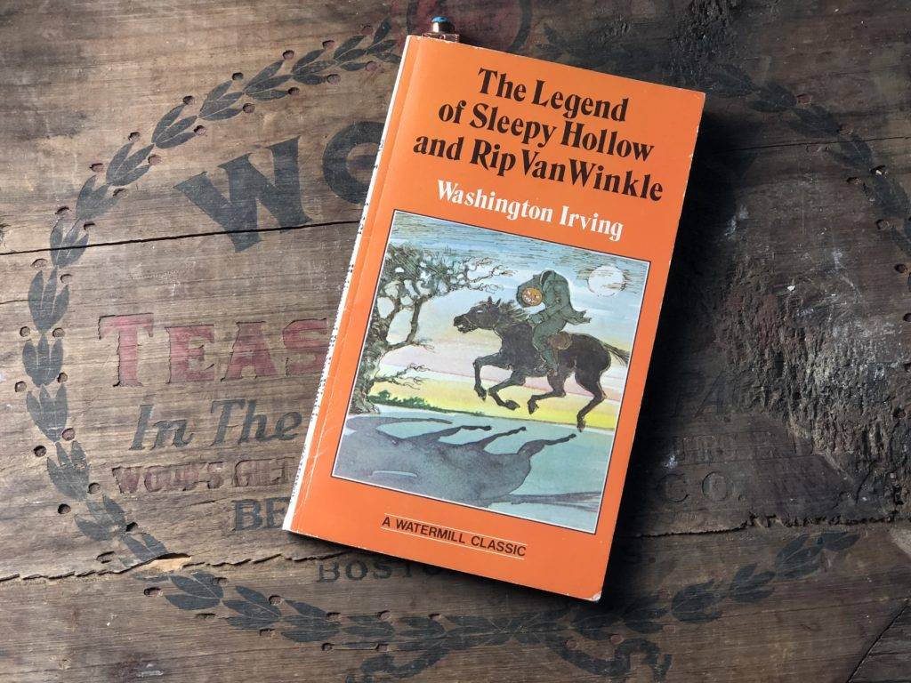 The Doughty Doughnut blog got its name from The Legend of Sleepy Hollow. A paperback version of the story is featured here with the headless horseman.