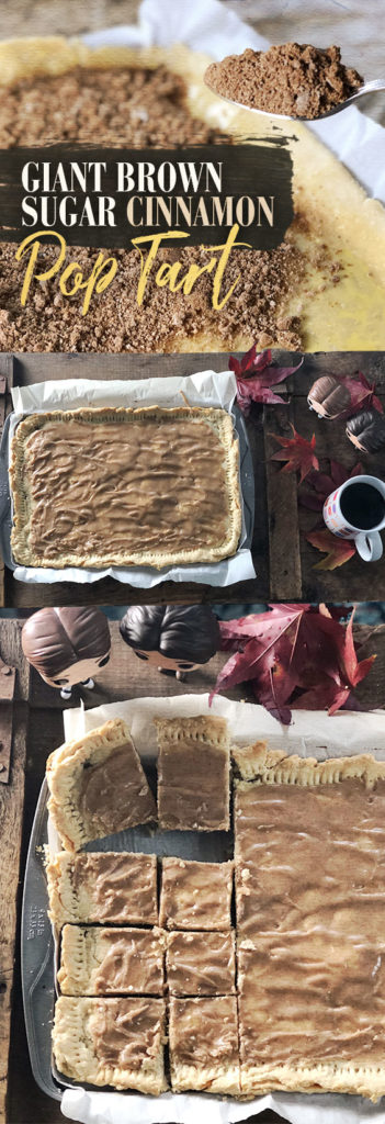This giant homemade brown sugar cinnamon pop-tart is perfect for a Gilmore Girls marathon.