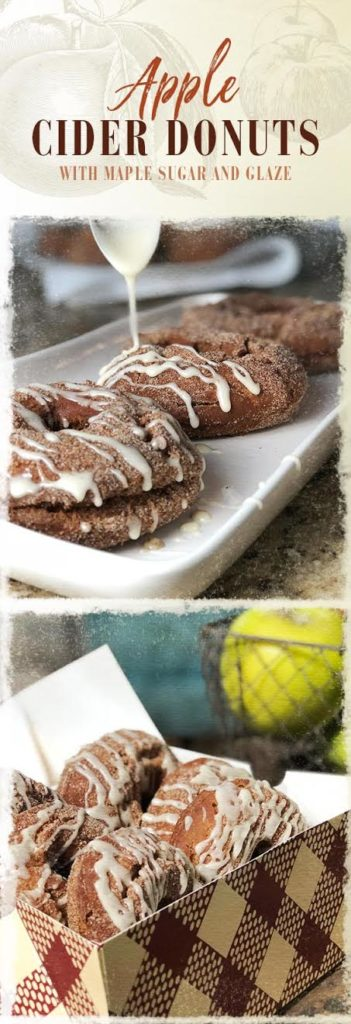 These delicious fried apple cider donuts are topped with maple sugar and maple glaze!