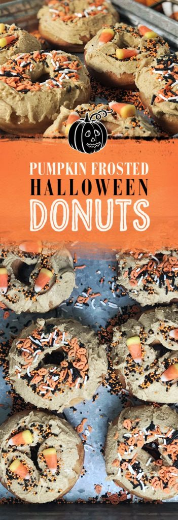 Halloween Donuts - Pumpkin Frosted! Get the recipe now.