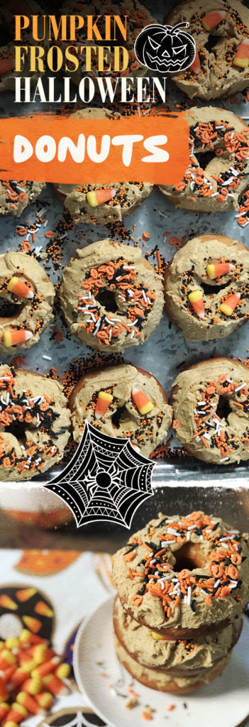 Pumpkin Frosted Halloween Donuts! Get the recipe now.