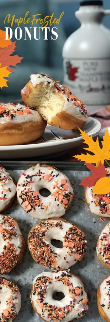 Make these delicious maple frosted donuts now!