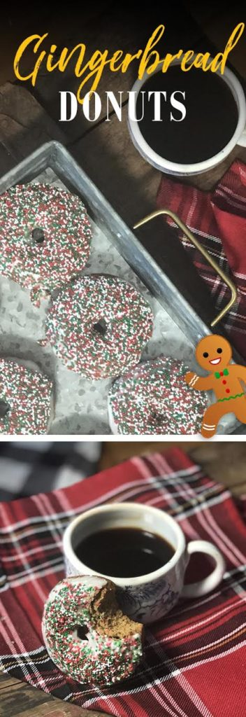 BAKED GINGERBREAD DONUTS! View this delicious and easy recipe now.