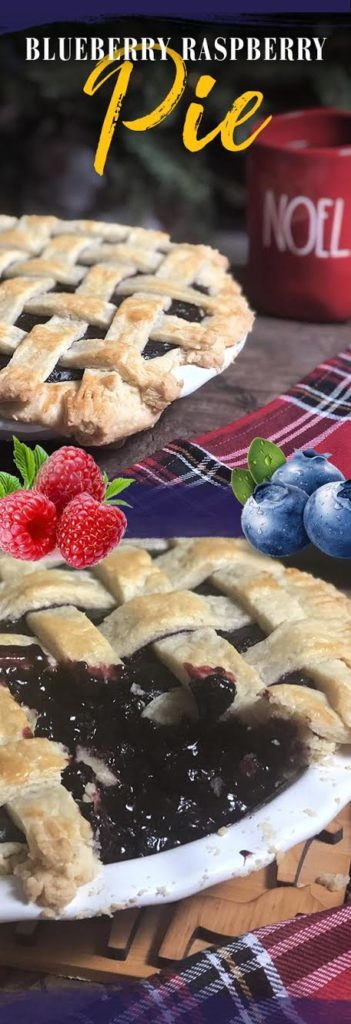 BLUEBERRY RASPBERRY PIE! Get the recipe now.