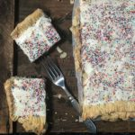This giant blueberry Pop-Tart slab pie is made with blueberry jam.