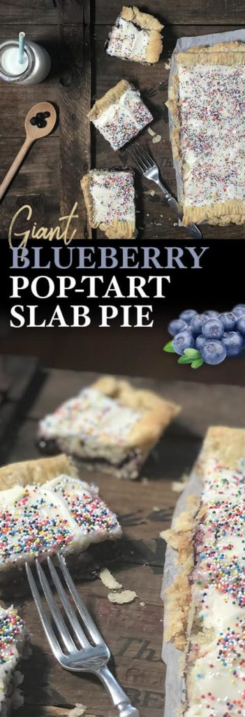 GIANT Blueberry Pop-Tart! Get the recipe for this slab pie now!